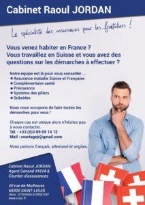 Assurances frontaliers Suisse Cabinet Raoul Jordan St Louis 68