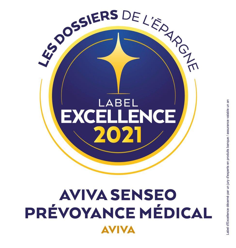 Aviva Senseo Prévoyance Médical, une nouvelle fois récompensé du Label d'Excellence des Dossiers de l'Epargne ! Découvrez tous les avantages de ce contrat de prévoyance conçu pour les professionnels de la santé et paramédicaux